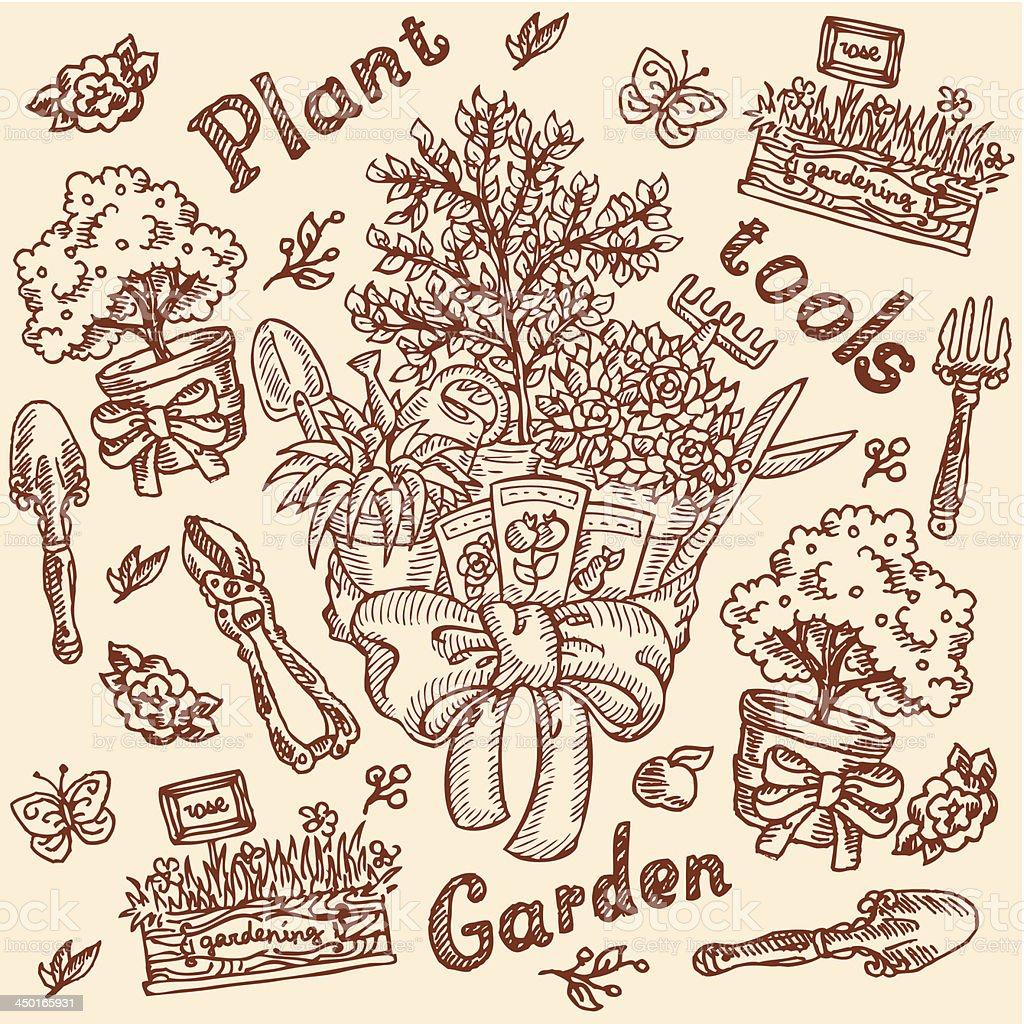 Vintage Garden Pattern royalty-free stock vector art