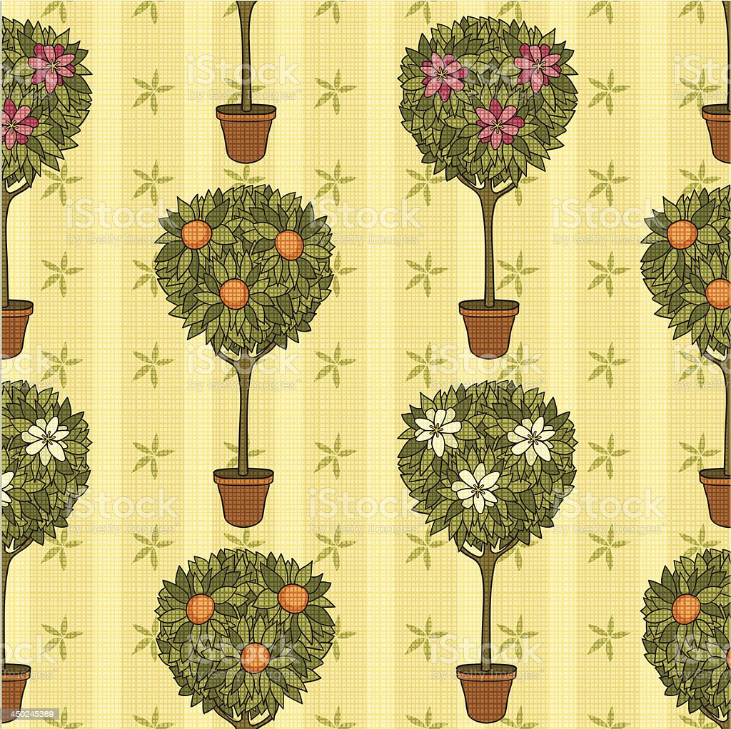 vintage garden vector art illustration