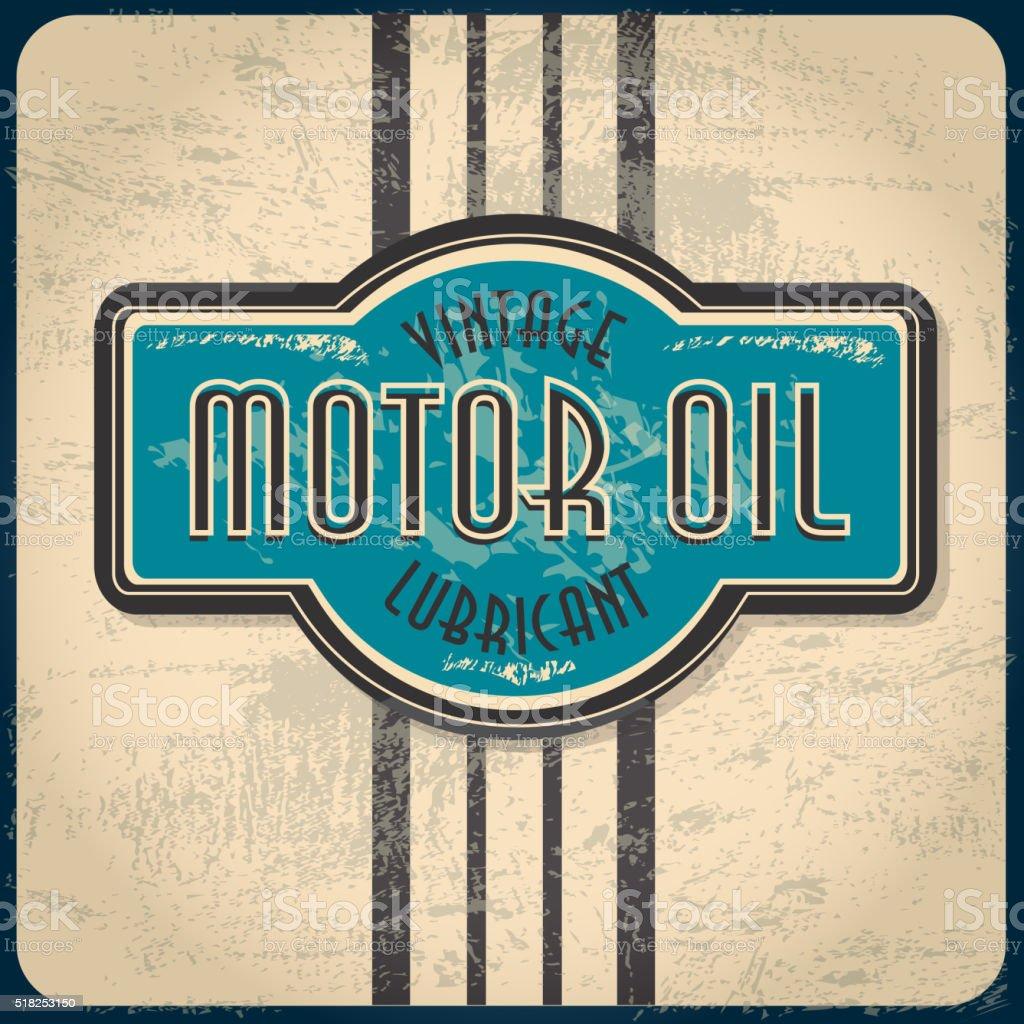 Vintage Gas station sign vector art illustration