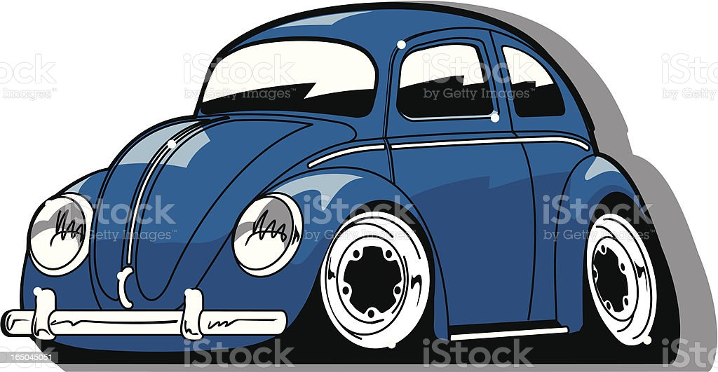 Vintage German Car-toon vector art illustration