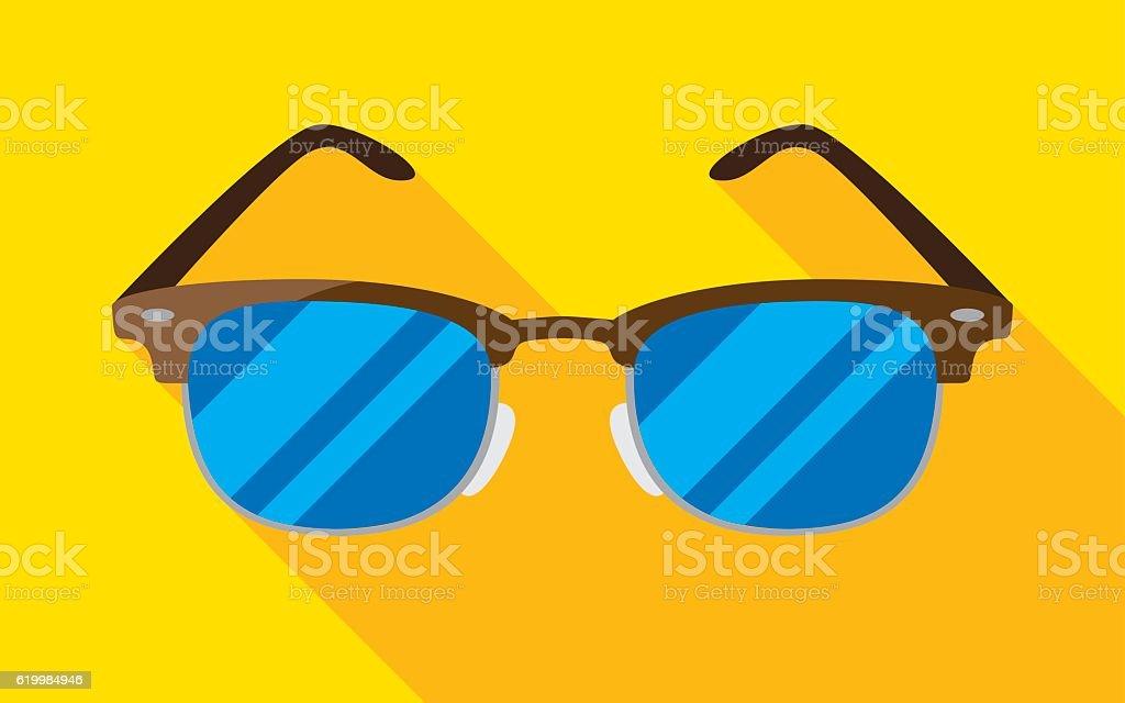 Vintage Glasses Icon Flat vector art illustration
