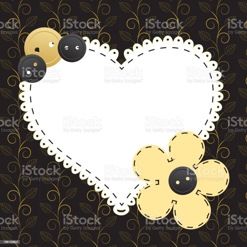 Vintage gold frame on floral  background. Vector illustration. royalty-free stock vector art