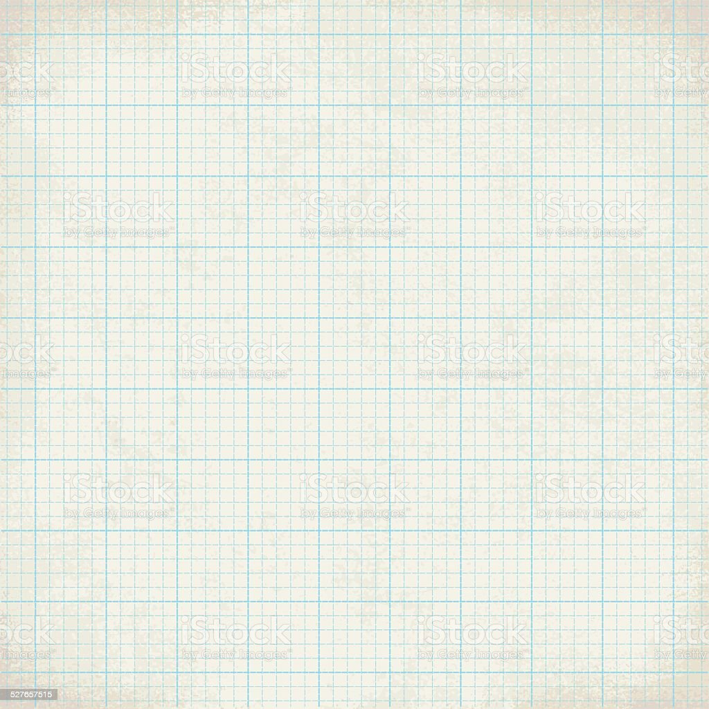 Vintage graph paper vector background 1 vector art illustration