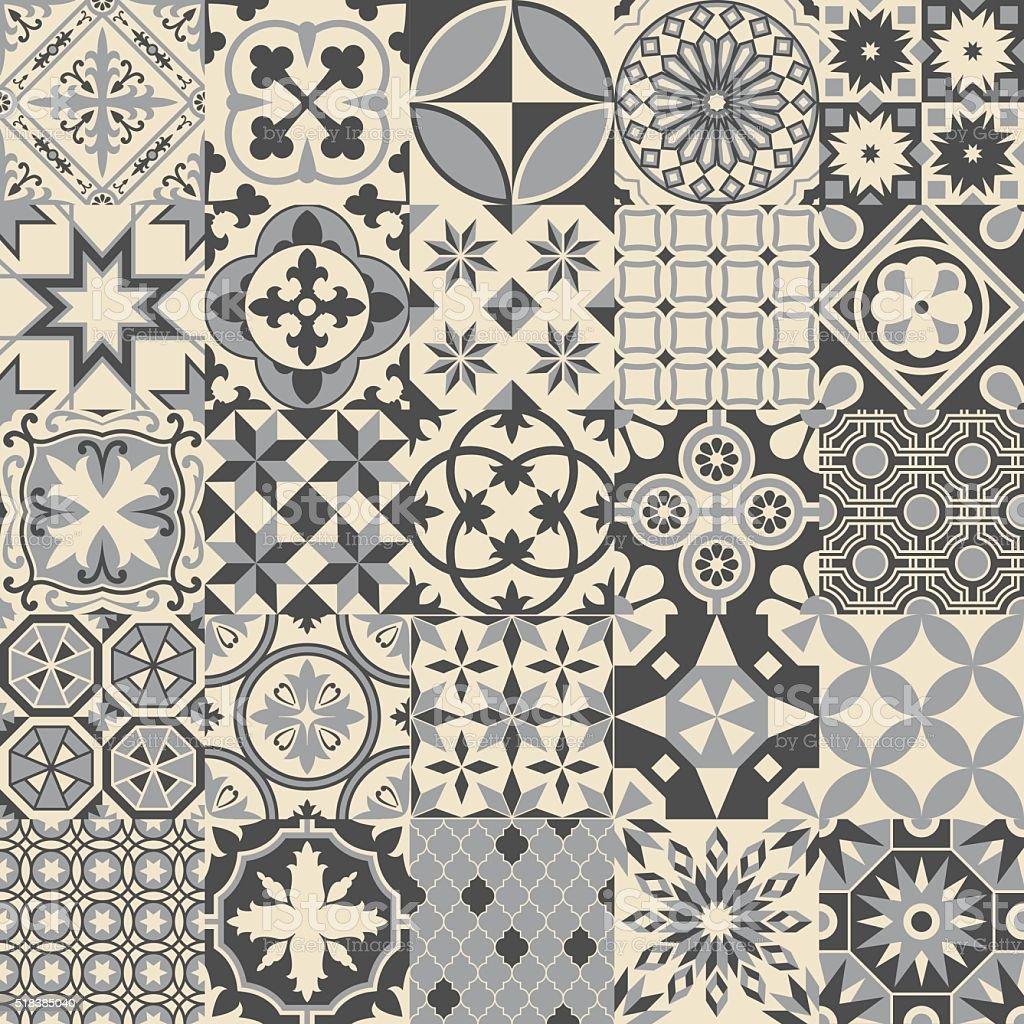 vintage cinza mosaico azulejos de porcelana padro perfeito vetor e ilustrao royaltyfree royalty