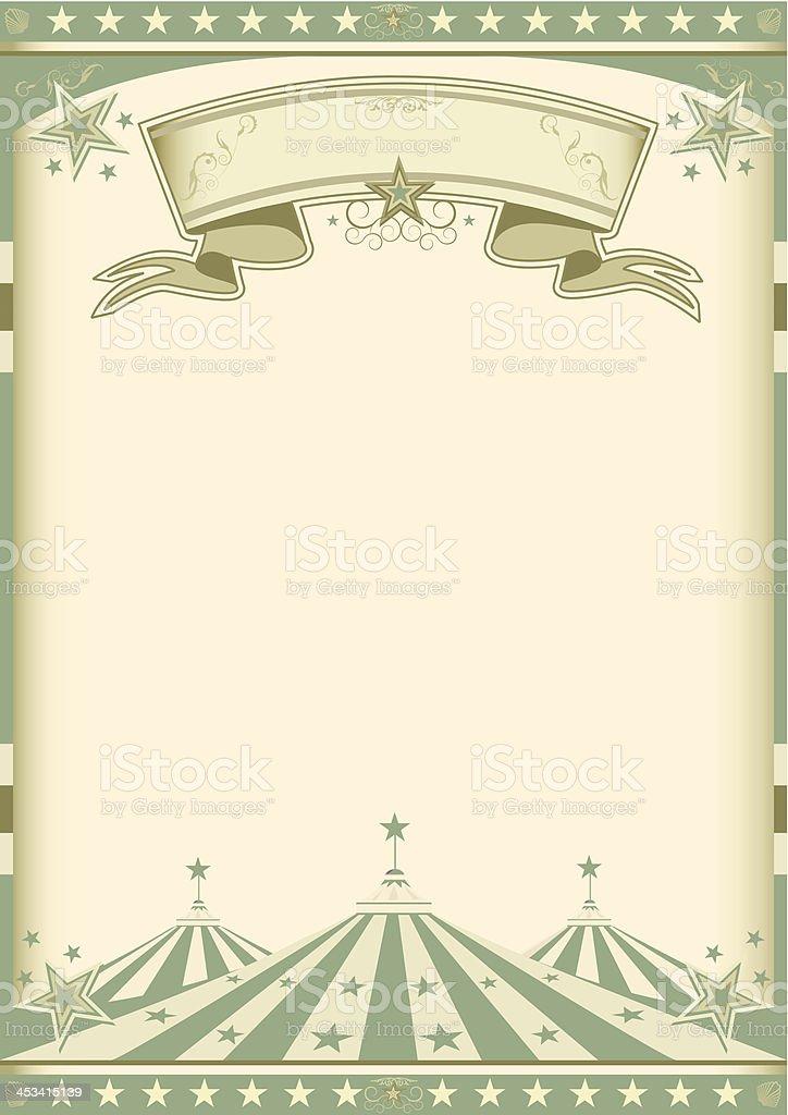 vintage green circus royalty-free stock vector art