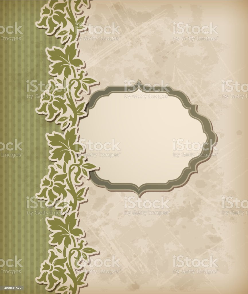 Vintage green vector background royalty-free stock vector art