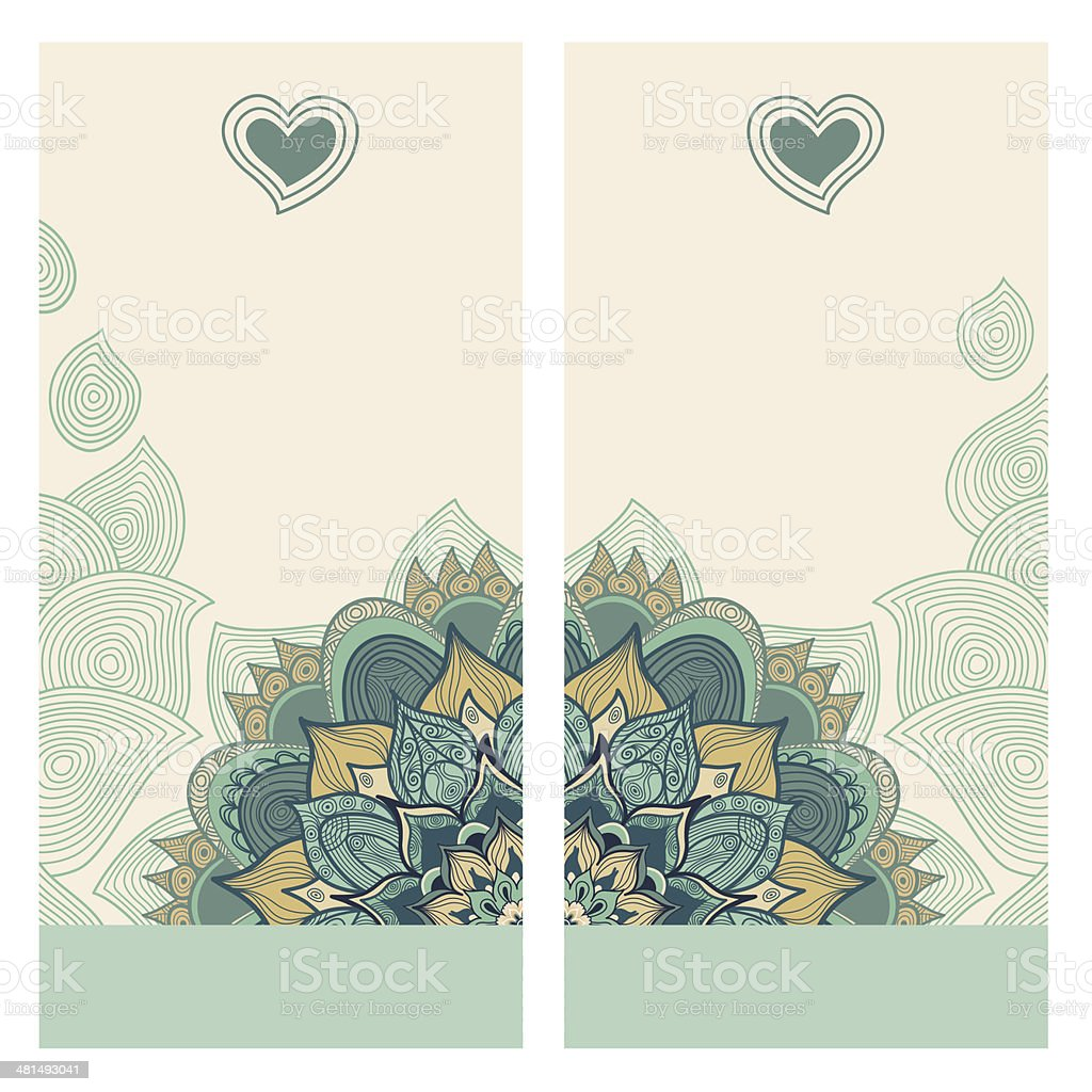 Vintage greeting cards. royalty-free stock vector art