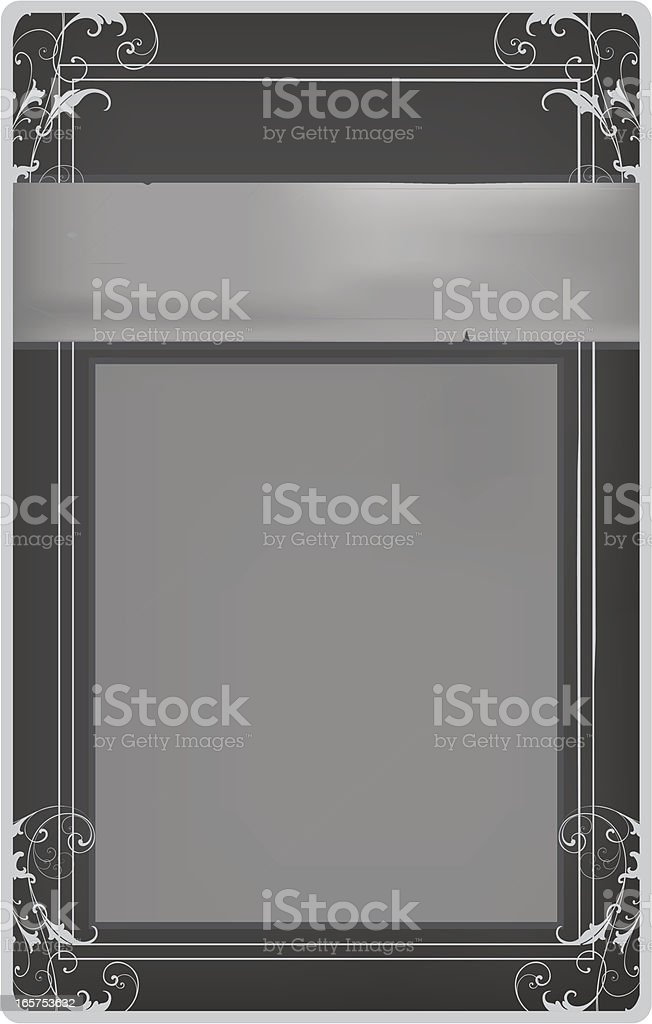 Vintage Greyscale Label royalty-free stock vector art