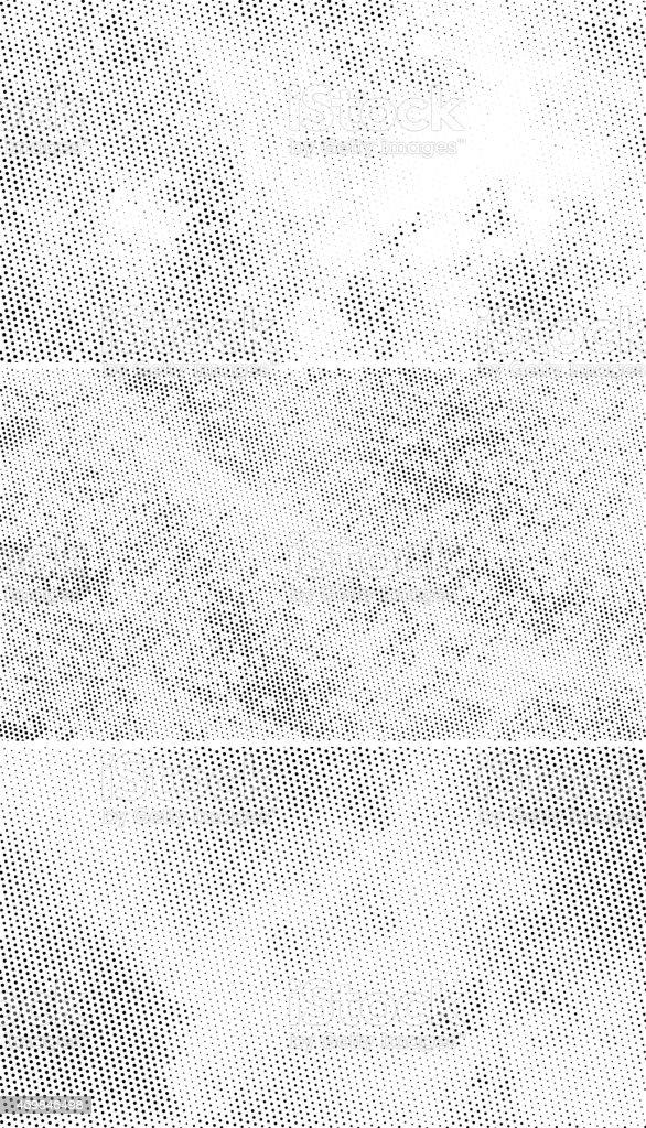 Vintage Halftone Backgrounds, Scattered Black Dots vector art illustration