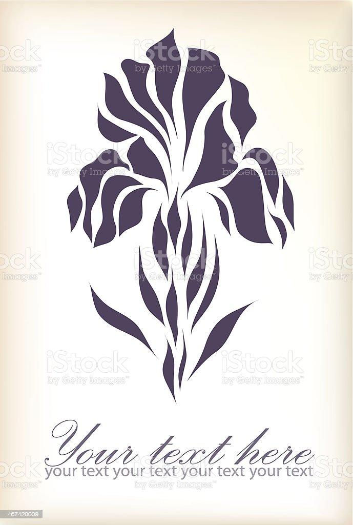 Vintage hand drawing iris vector vector art illustration