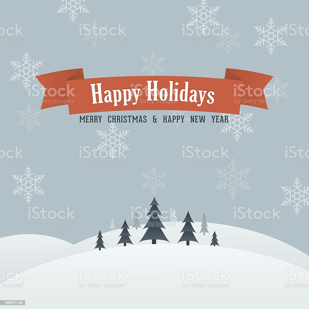 Vintage Happy Holidays Card royalty-free stock vector art