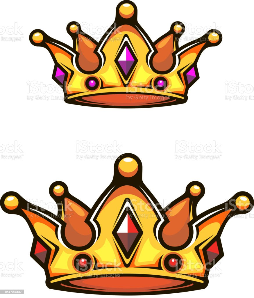 Vintage heraldic crown royalty-free stock vector art