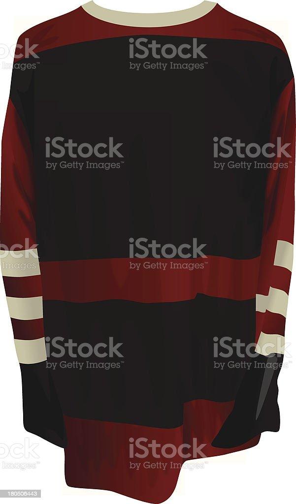 Vintage Hockey Jersey Sweater vector art illustration