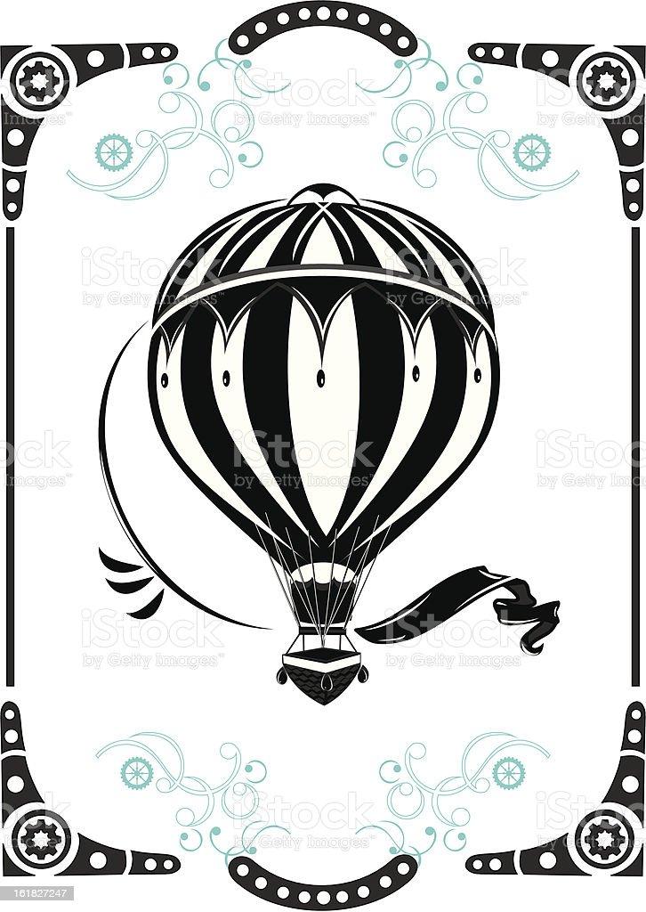 Vintage hot air balloon design royalty-free stock vector art