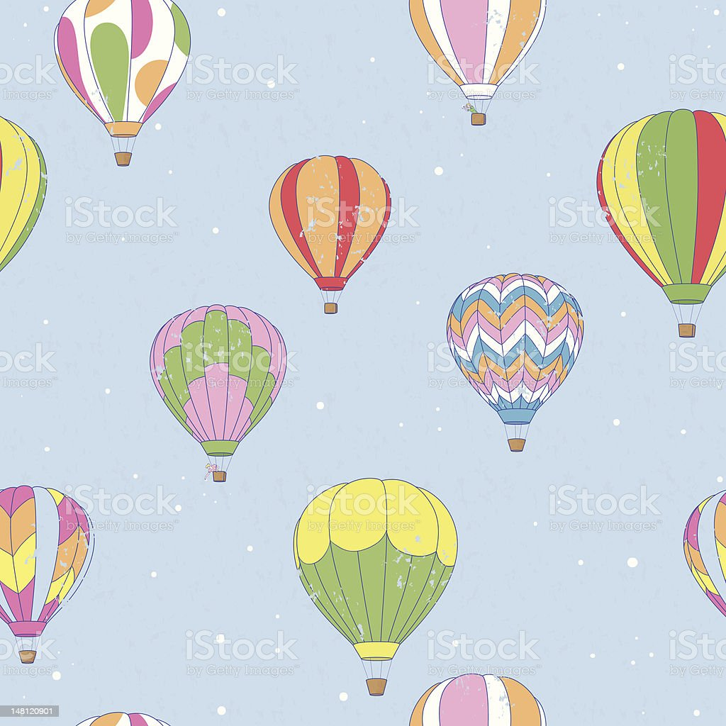 Vintage Hot Air Balloon royalty-free stock vector art
