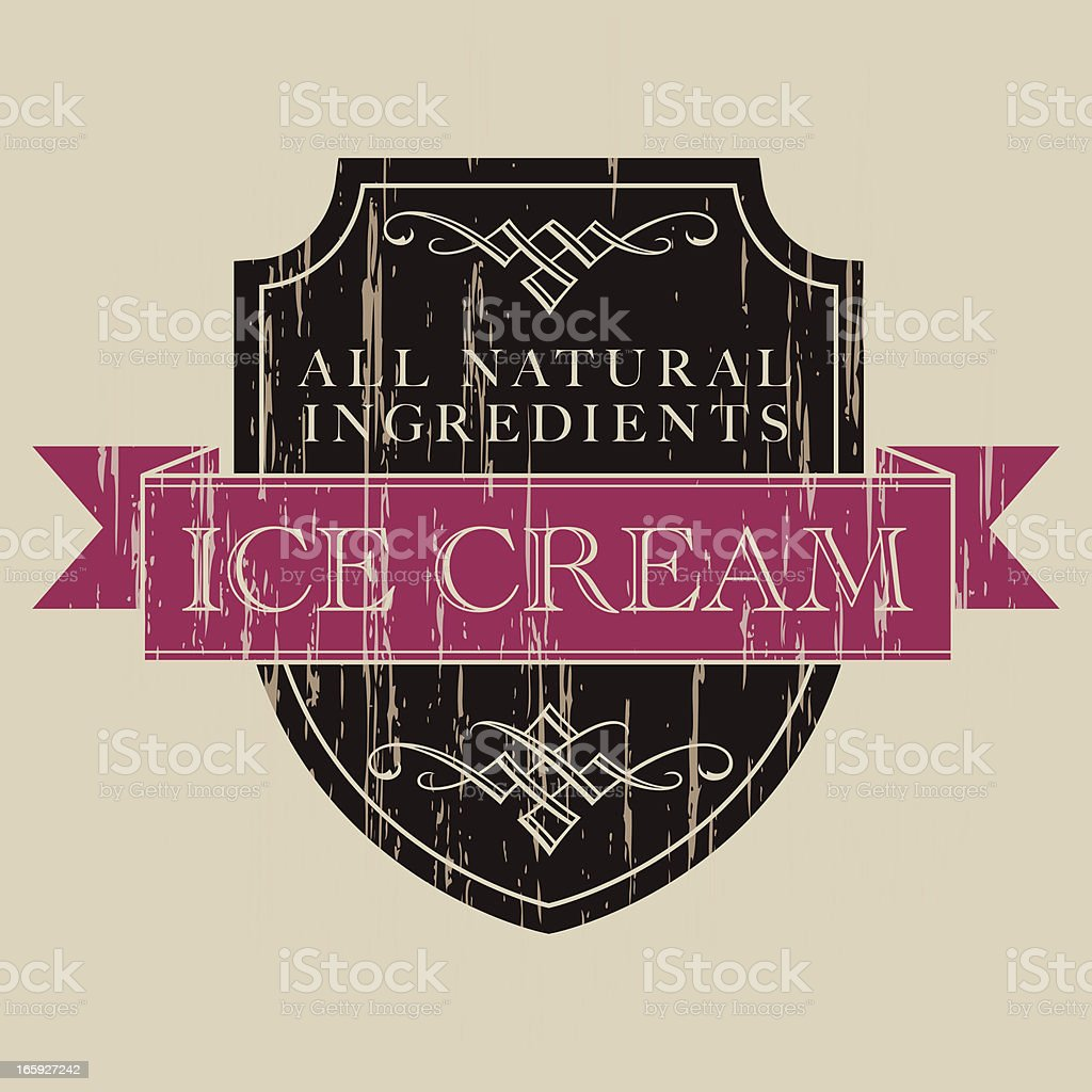 Vintage Ice Cream Label royalty-free stock vector art