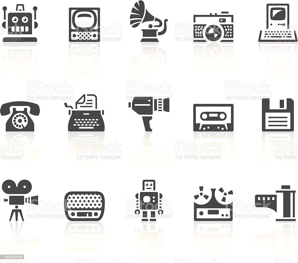 Vintage icons vector art illustration