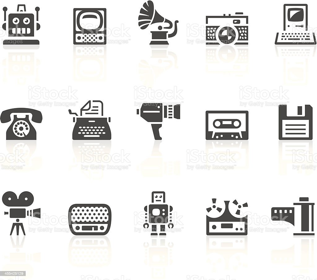 Vintage icons vector art illustration