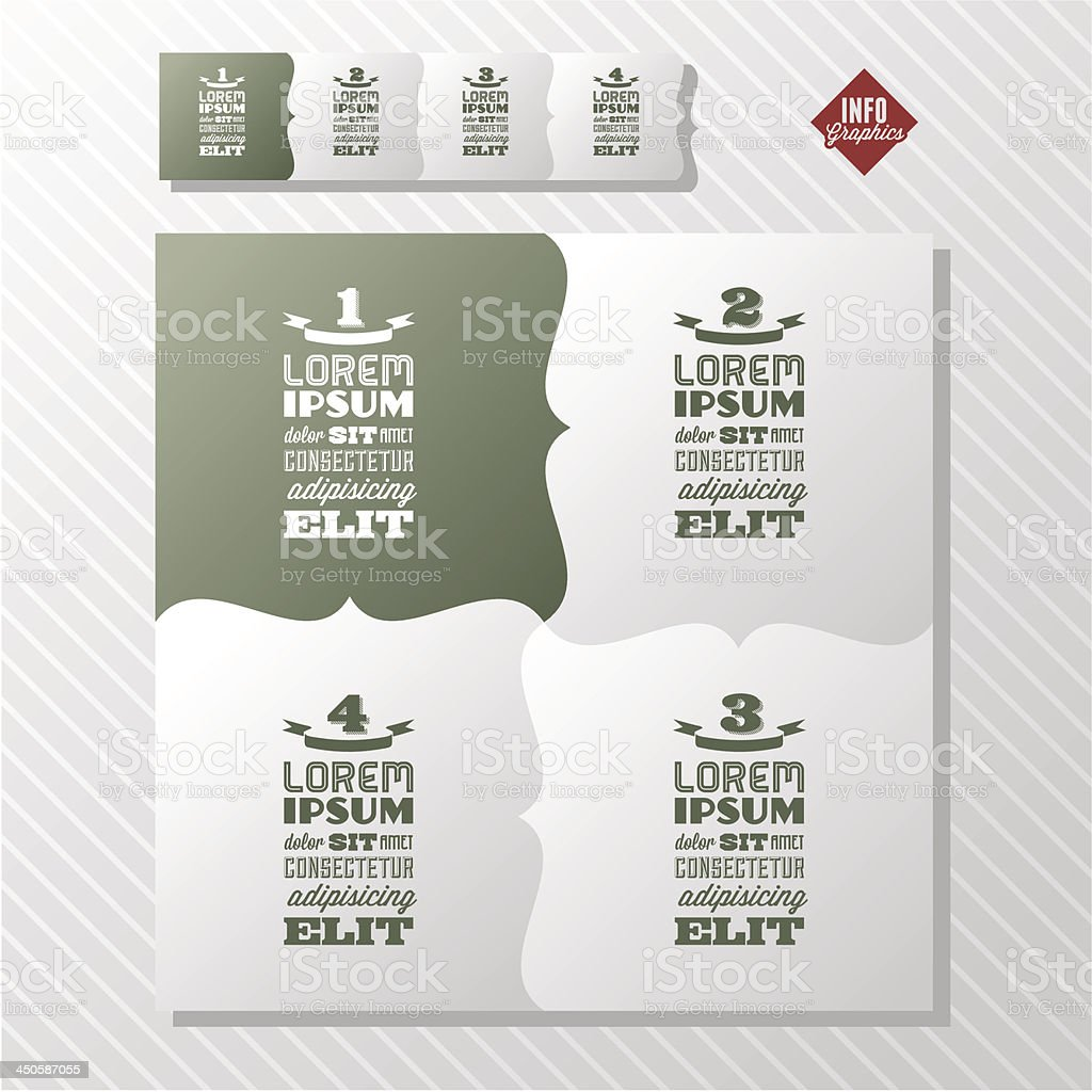vintage infographics royalty-free stock vector art