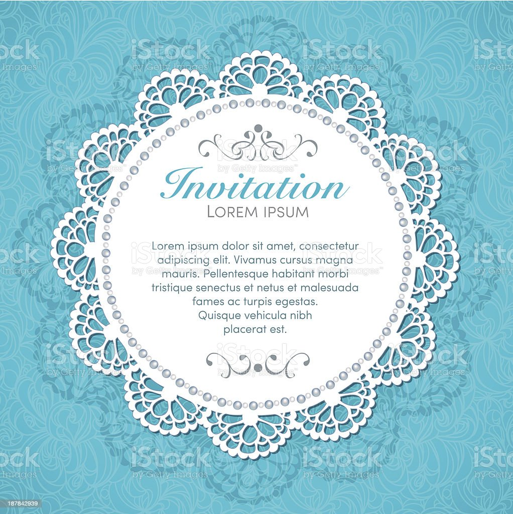 Vintage invitation card. royalty-free stock vector art