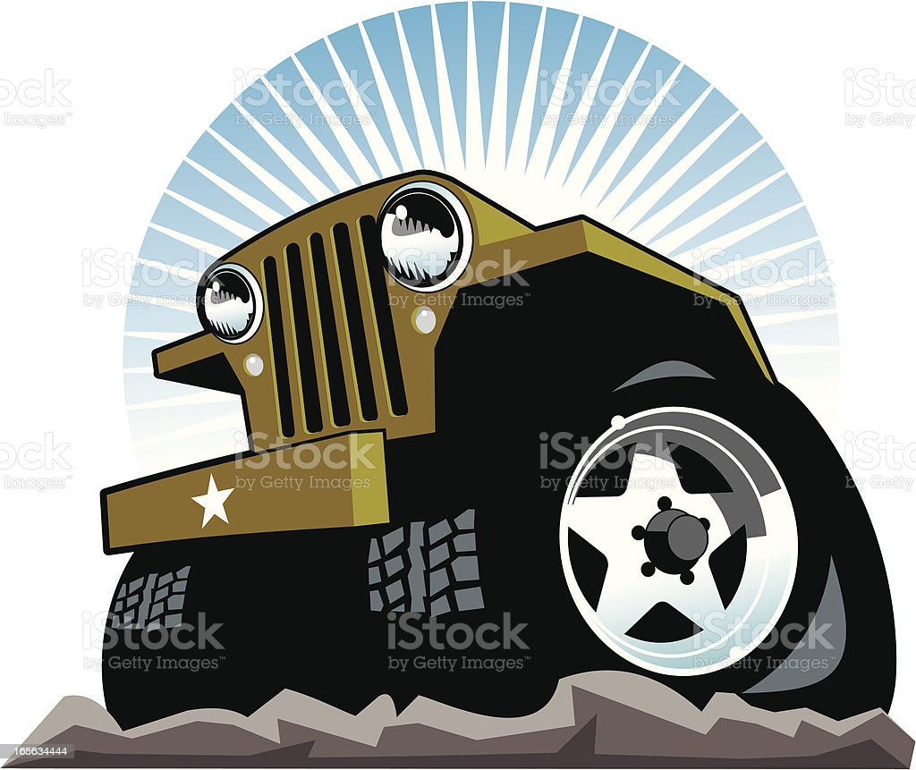 Vintage Jeep royalty-free stock vector art