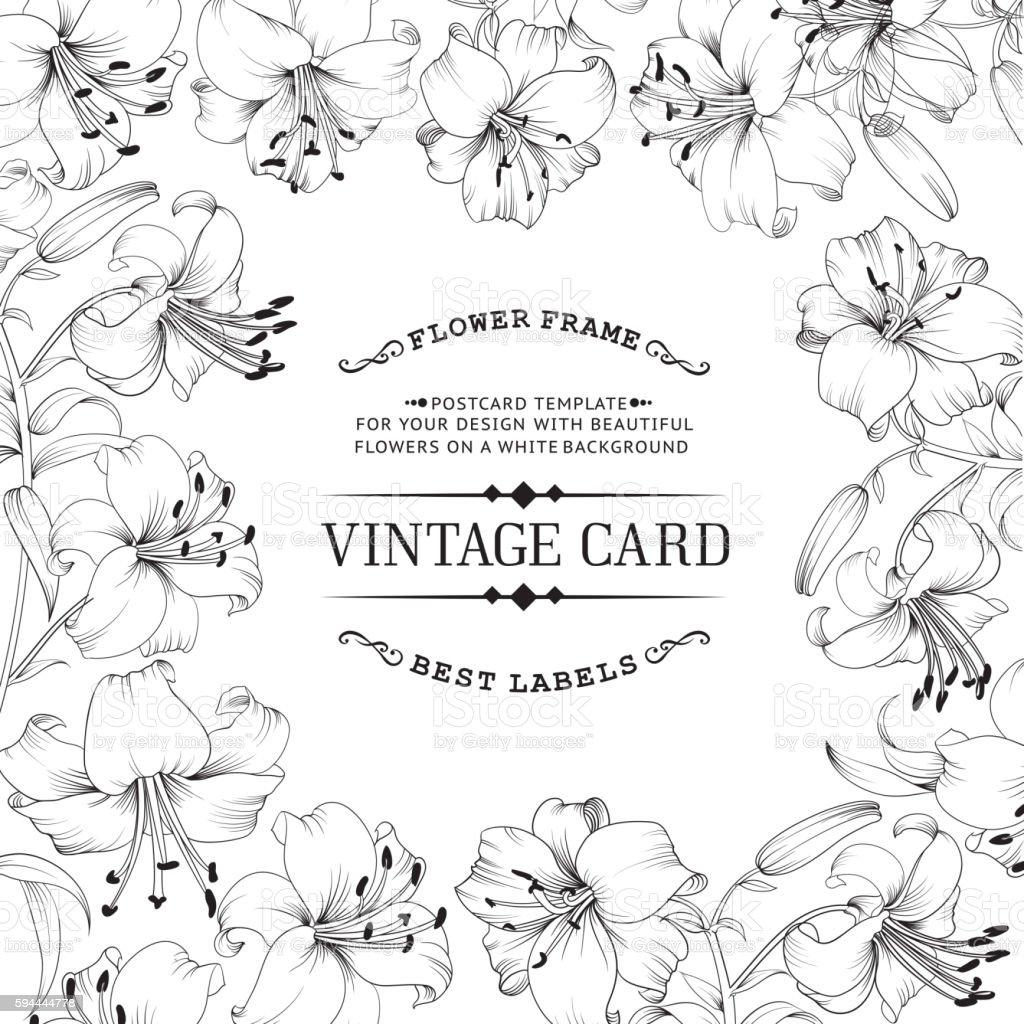 Vintage label card. vector art illustration