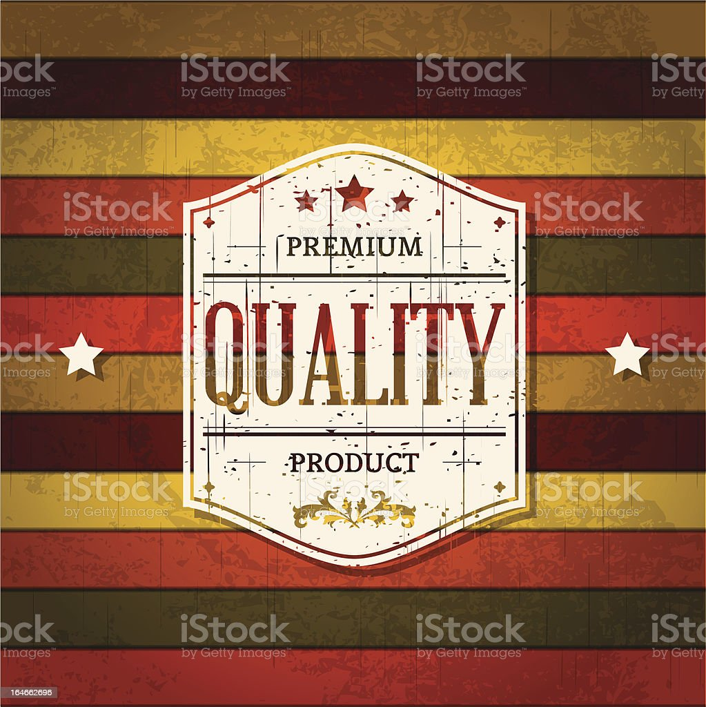 Vintage Label on Retro Background royalty-free stock vector art