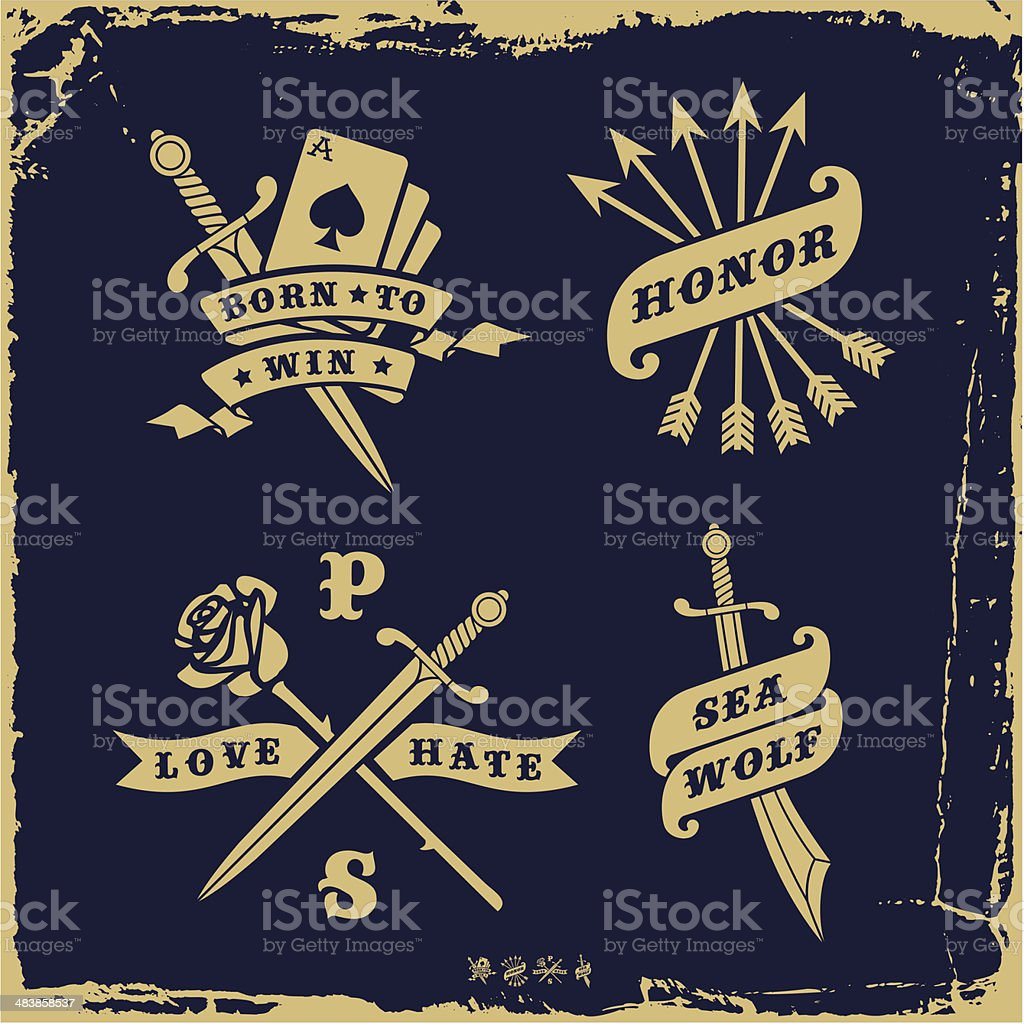 vintage label vector art illustration