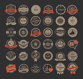Vintage labels and logotypes design vector