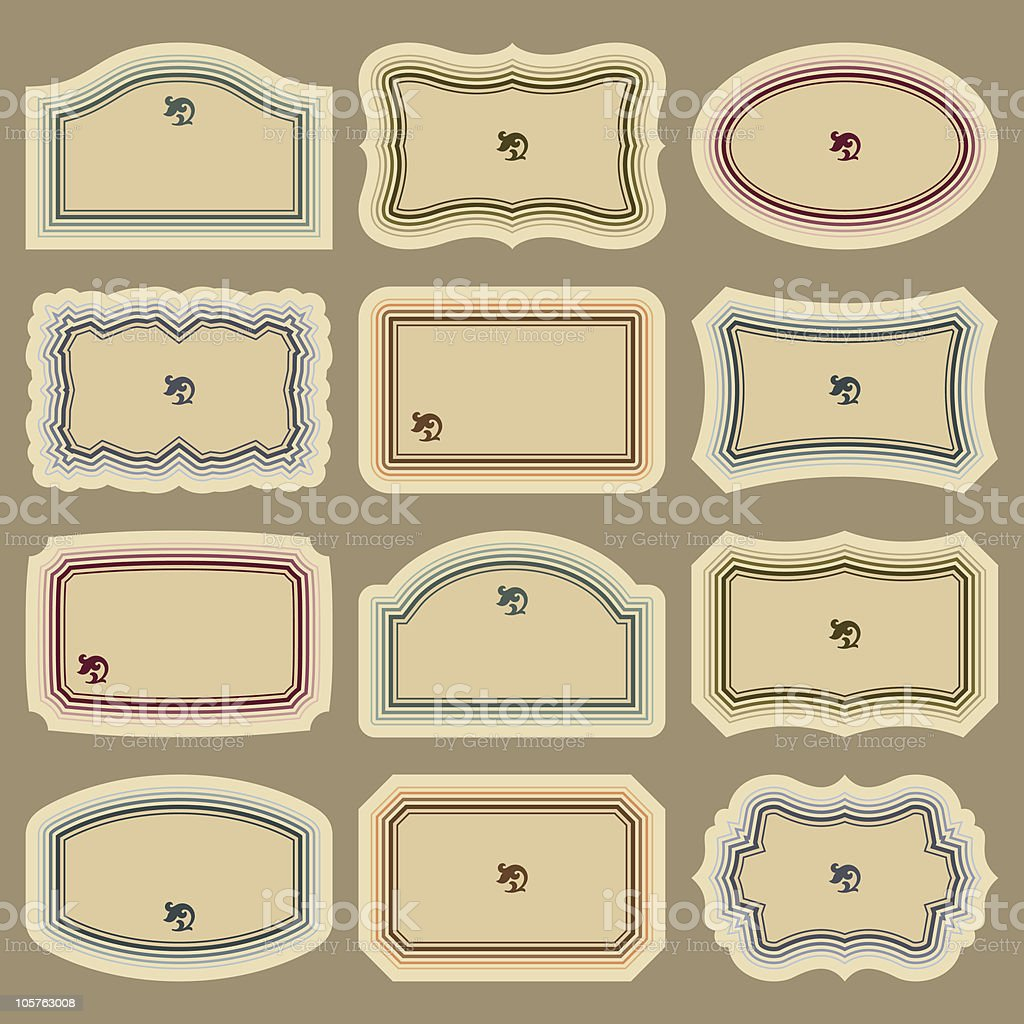 vintage labels set (vector) royalty-free stock vector art