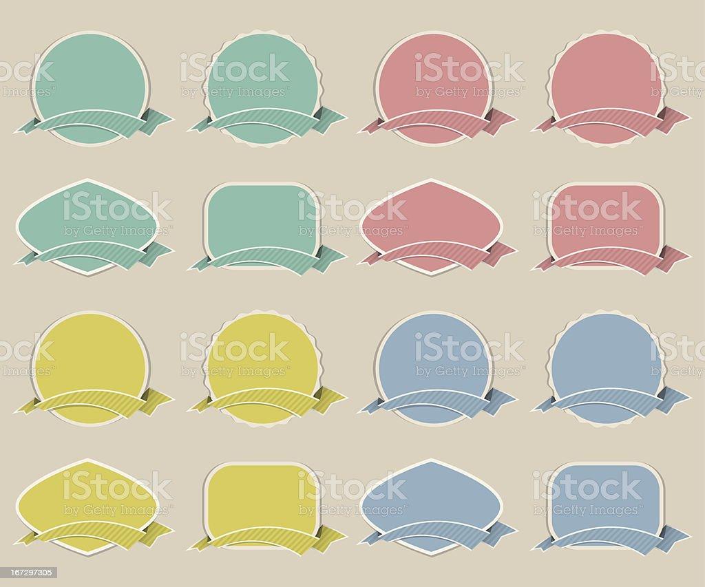 vintage labels set royalty-free stock vector art