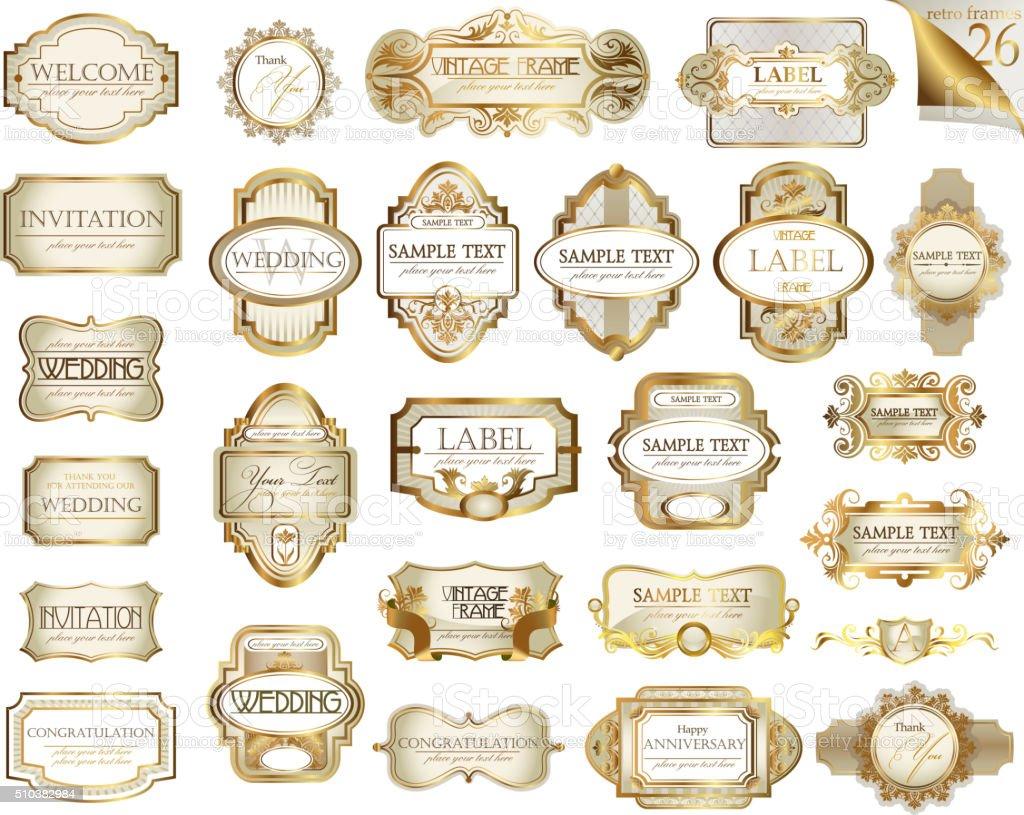 Vintage labels set vector art illustration