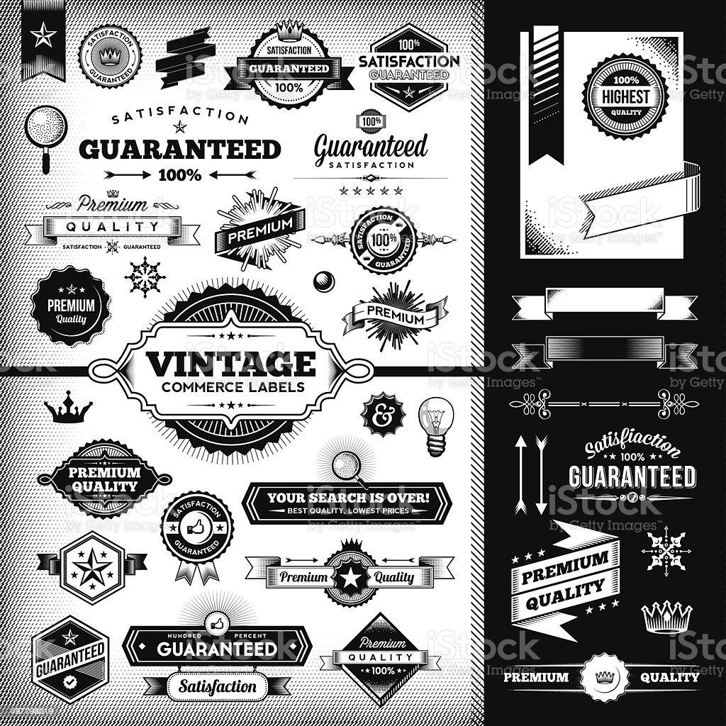 Vintage Labels Toolkit vector art illustration