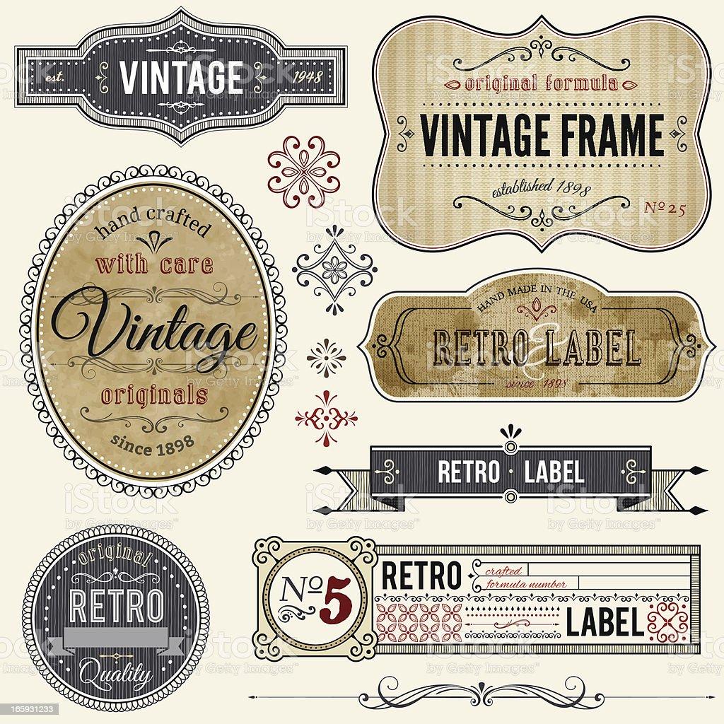 vintage antique labels