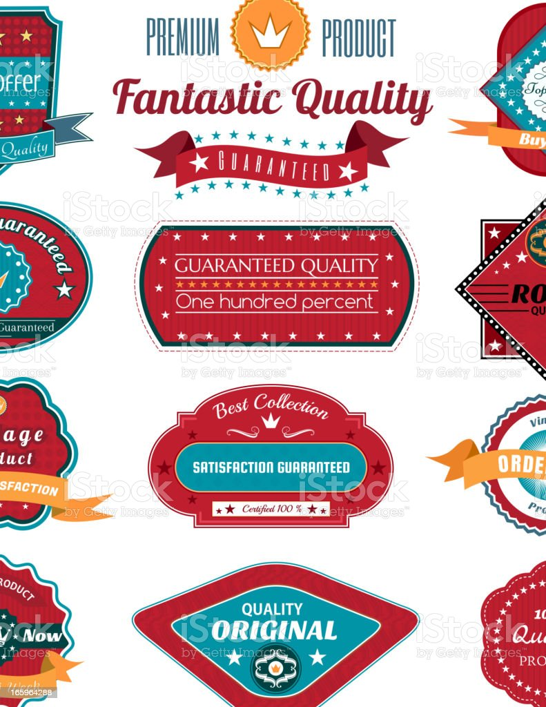 Vintage Labels royalty-free stock vector art