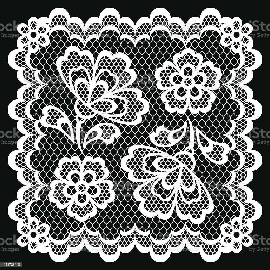 Vintage lace frame, abstract ornament. Vector texture. royalty-free stock vector art