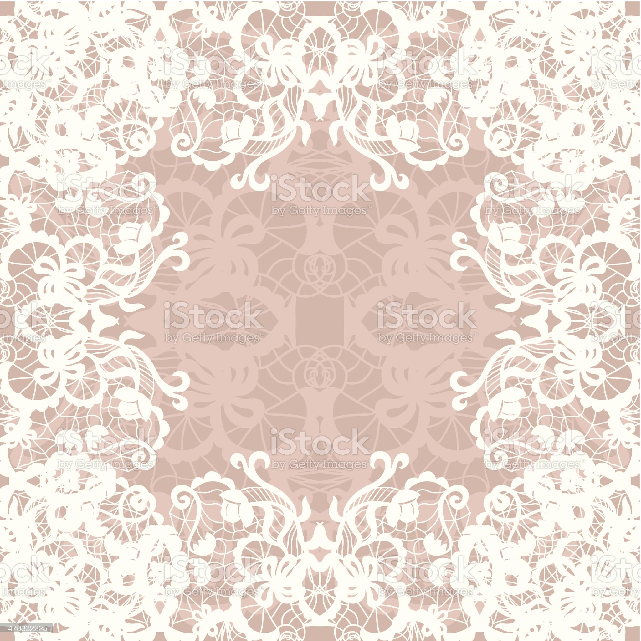 Vintage lace invitation card. royalty-free stock vector art