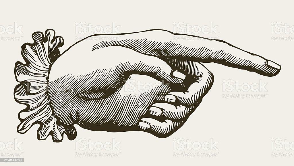 Vintage Lady Hand vector art illustration
