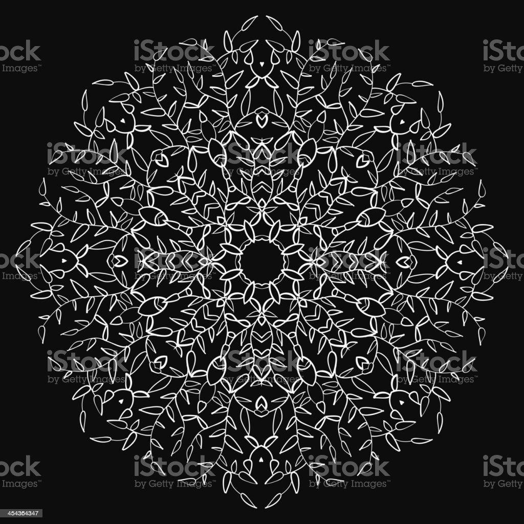Vintage leaf black ornament background royalty-free stock vector art