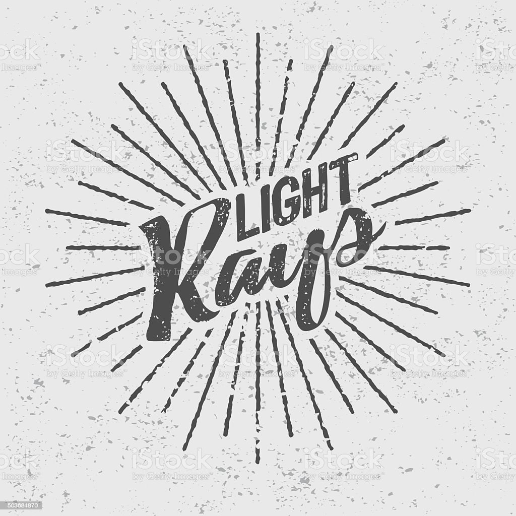 Vintage Light Rays Icon Template vector art illustration