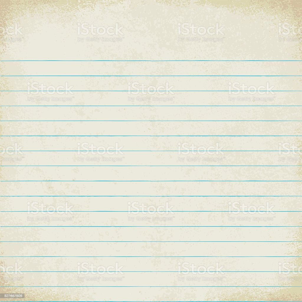 Vintage Lined Paper Sheet Vector Background 1 stock vector art – Line Paper Background