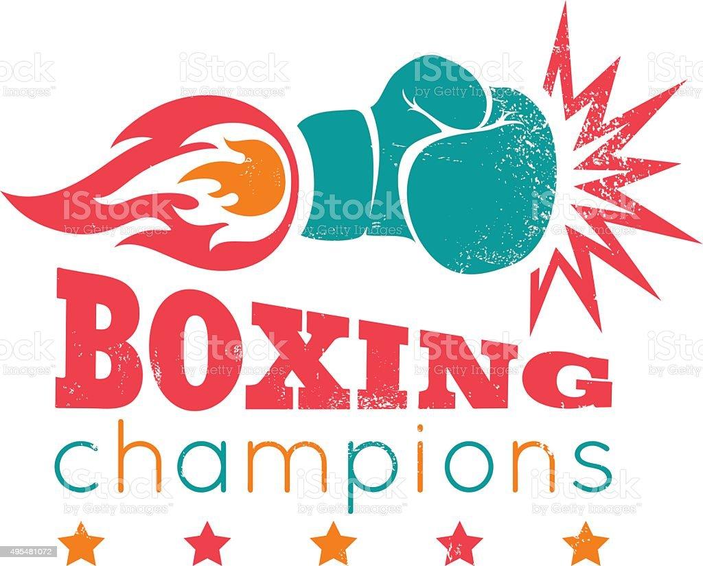 Vintage logo for a boxing vector art illustration