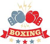 Vintage logo for a boxing