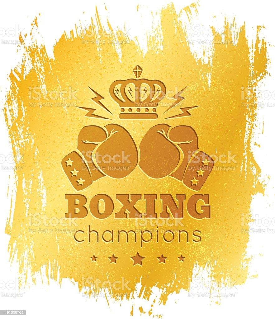 Vintage logo for boxing vector art illustration