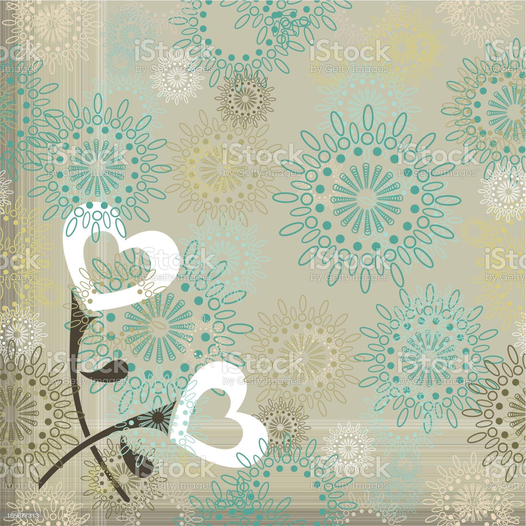 Vintage love pattern royalty-free stock vector art