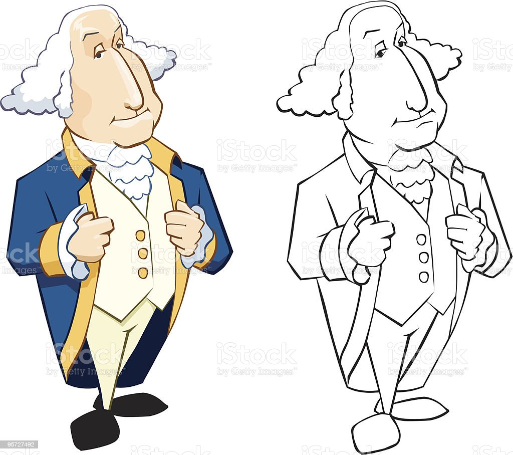 George Washington royalty-free stock vector art