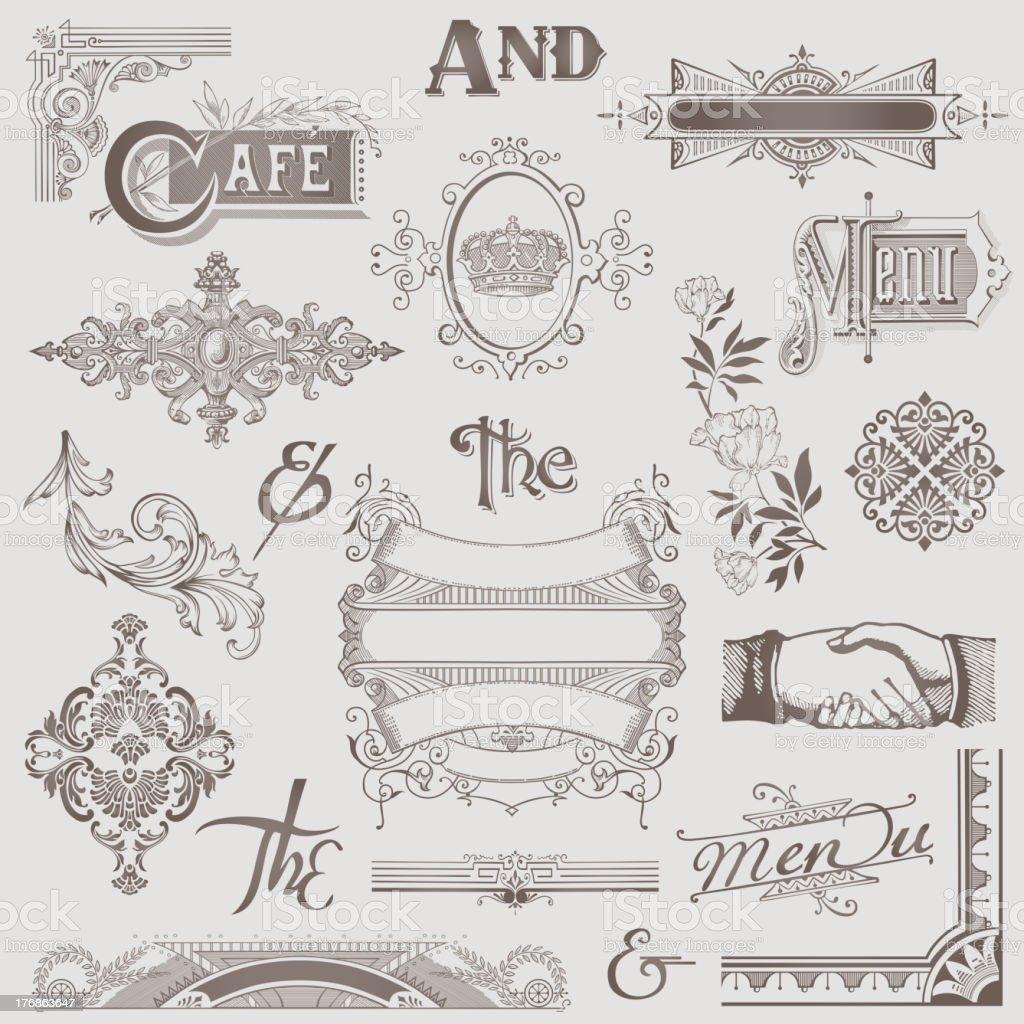 Vintage Menu Elements royalty-free stock vector art