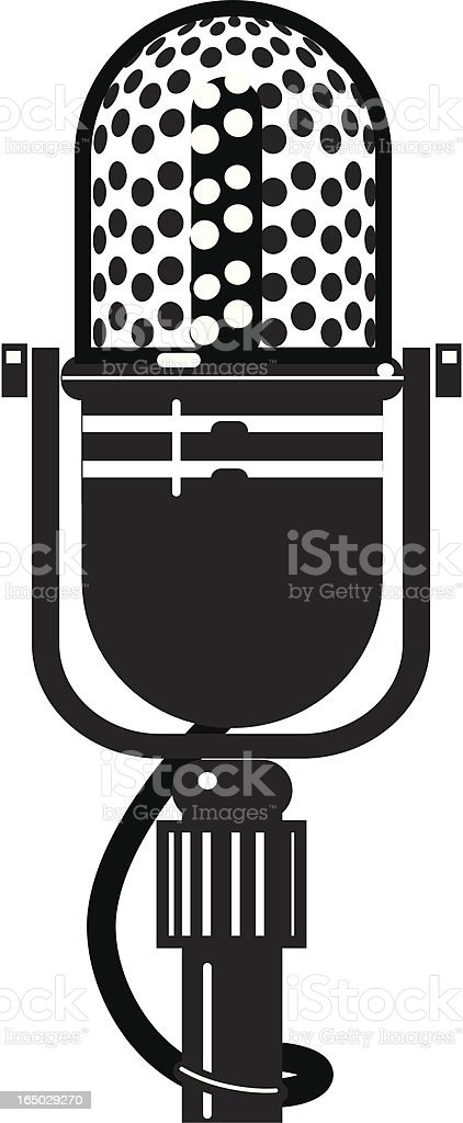 Vintage Microphone 1 (Jpg & Vector) royalty-free stock vector art