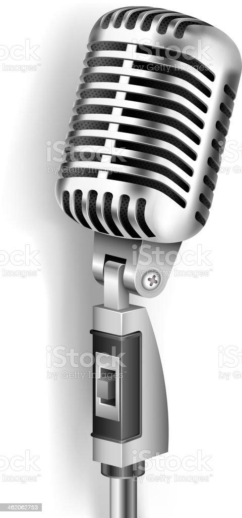 Vintage Microphone vector art illustration