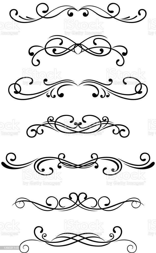 Vintage monograms and motifs royalty-free stock vector art
